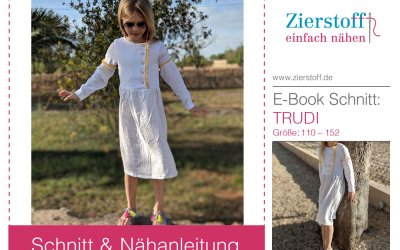 Schnittmuster Mädchenkleid Trudi aus Musselin nähen…