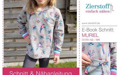 Schnittmuster Sweatshirt mit Schlitz nähen – Muriel