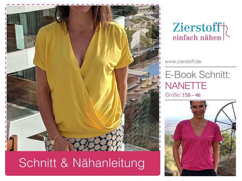 """Schnittmuster Damenshirt mit Wickeleffekt """"Nanette"""""""