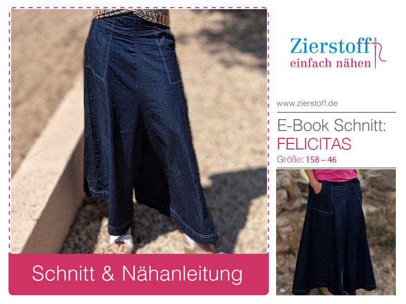 """Schnittmuster weiter Hosenrock """"Felicitas"""""""