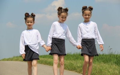 Schnittmuster Bluse Justine, Rock Gina und Skort Lisia für 3 Mädels nähen…