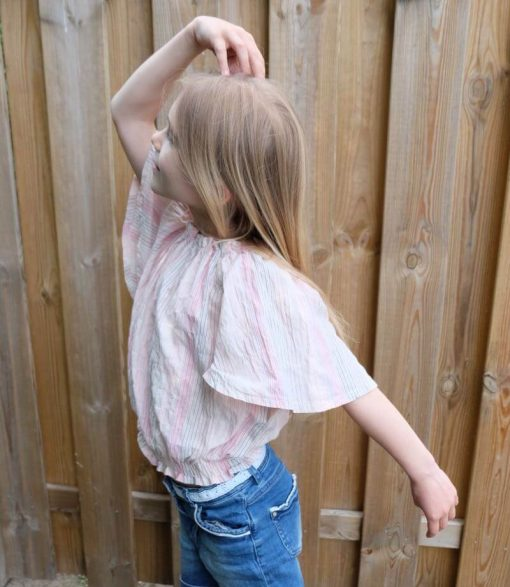 Schnittmuster Zierstoff Bluse Kinderbluse Sabine 4