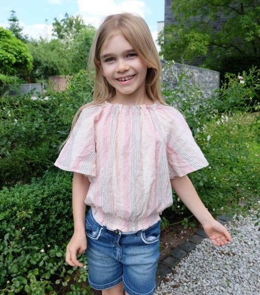 Schnittmuster Zierstoff Bluse Kinderbluse Sabine 6