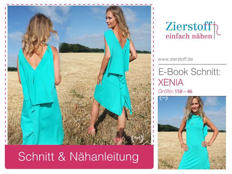 Schnittmuster Sommerkleid, Urlaubskleid Xenia – 5 Minuten Nähzeit