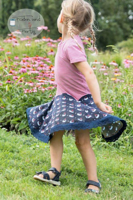 Zierstoff Kleid Wanda