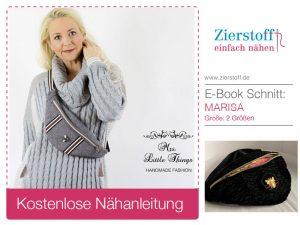 "PAPIERSCHNITTMUSTER, Bauchtasche, Gürteltasche ""MARISA"" – 2 Größen"