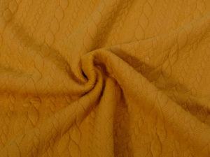 Zopfmuster Strickstoff Gelb - 1
