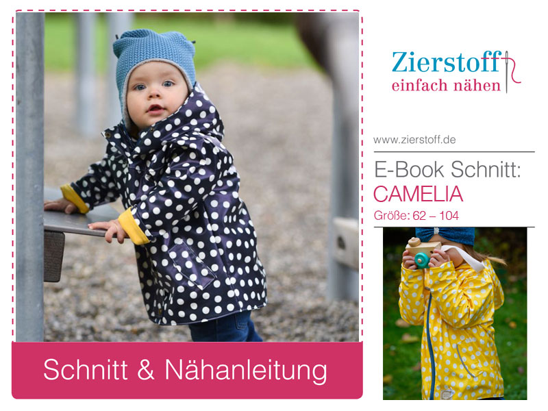 "Schnittmuster Regenjacke ""Camelia"" für Kinder"