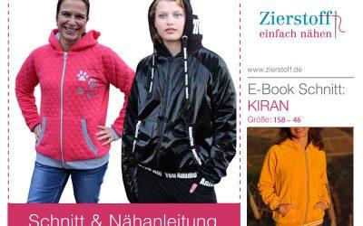 "Schnittmuster Collegejacke ""Kiran"" für Damen"