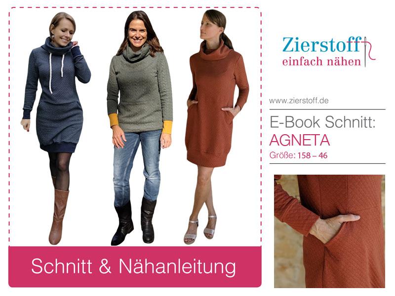 Schnittmuster Sweatkleid Agneta, Jerseykleid für Mädchen und Damen