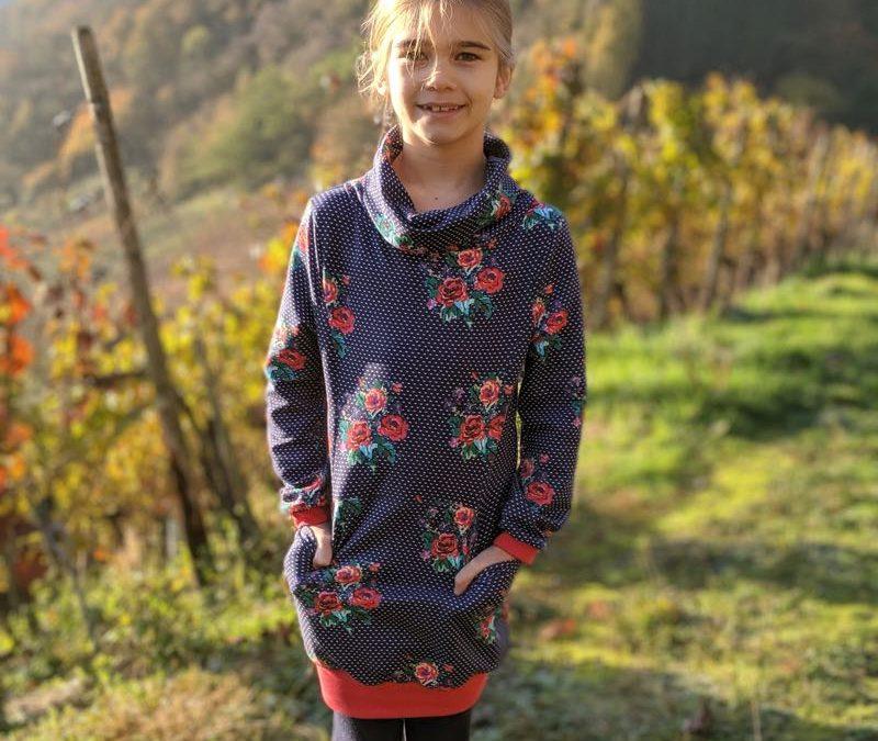 Schnittmuster Sweatkleid Agneta, Jerseykleid für Mädchen und Damen NEU!