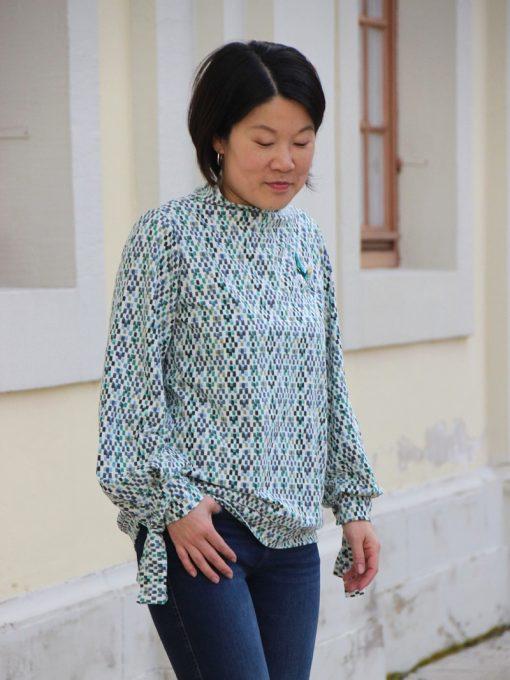 Schnittmuster Damenshirt Bluse Manschette Margarete Zierstoff05