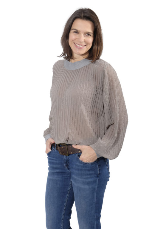 Schnittmuster Shirt Margarete Chiffon Plissee