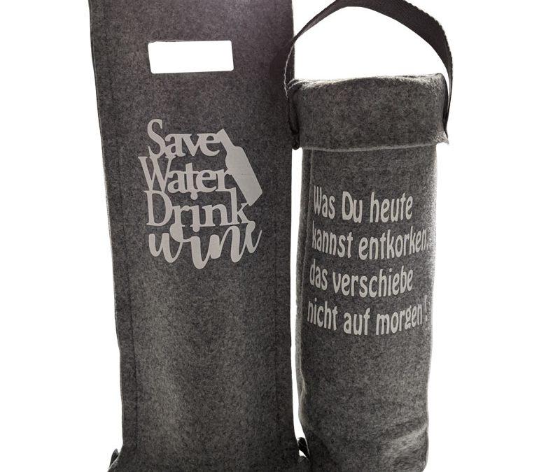 Schnittmuster für eine Weinflaschen Husse, Filztasche als Freebie!