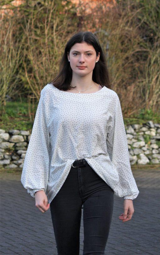 Zierstoff Schnittmuster Bluse Margarete Shirt2