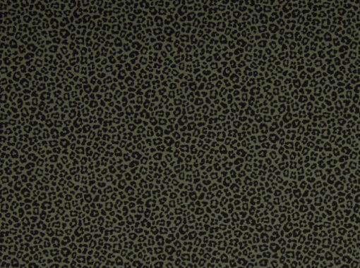 Jersey Leoprint Grün Animal print
