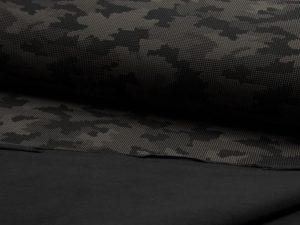 Camouflage reflektierend schwarz
