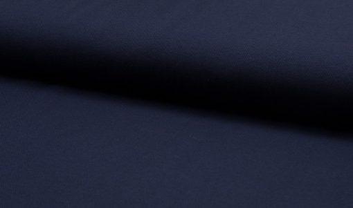 Jersey Stoff Polo Pique dunkelblau