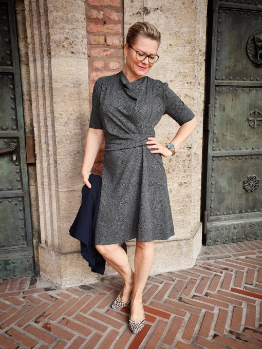 Schnittmuster Damenkleid Jessica Knotenkleid6