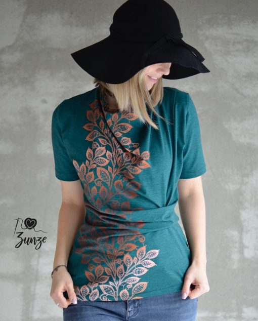 Schnittmuster Kleid Shirt Jessica Zierstoff Knoten1