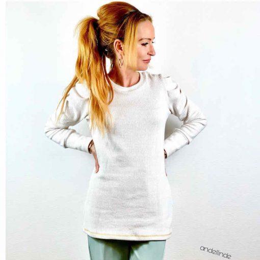 Schnittmuster Shirt Jenna Falten Ärmel - 1
