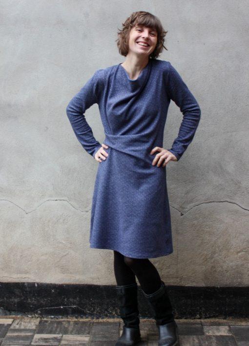 Schnittmuster Zierstoff Damenkleid jacquard Jessica5