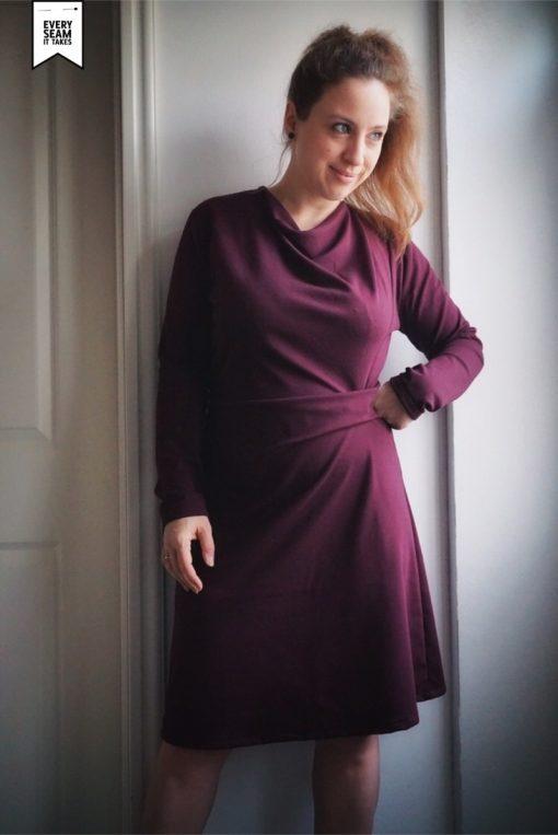Schnittmuster Zierstoff Damenkleid jerseykleid jessica7