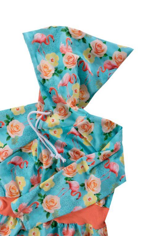 Jerseystoff-Blumen-Flamingos-Zierstoff1