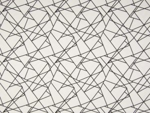 Jerseystoff Grafik Schwarz Weiß