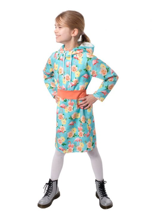 Schnittmuster-Mädchenkleid-Zwergenkapuze-Jerseykleid-nähen-Aurelia