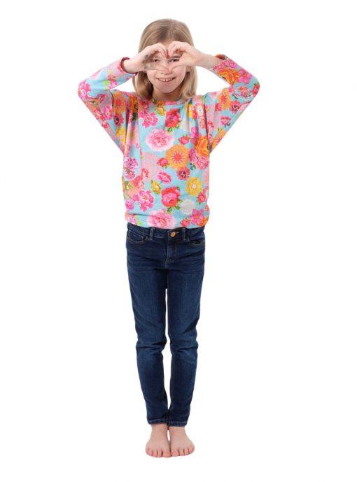 Schnittmuster_Zierstoff_Shirt_Mädchen_Doro_Jersey_Häkelblumen1