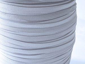 Elastisches Gummiband 5 mm breit – 10 Meter in der Farbe Weiß