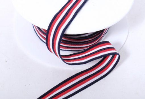 Band Strickband Rot Blau Weiß1