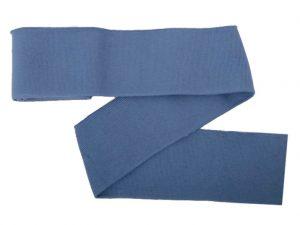 Collegebündchen-unifarben-Jeansblau