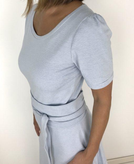 Schnittmuster damenkleid Jerseykleid Santina Midi Kleid nähen6
