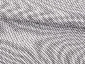 Baumwollstoff, Grau mit kleiner grafischer Musterung