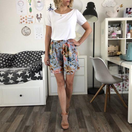 Schnittmuster Hosenrock Cosima Shirt Sue4