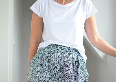 Schnittmuster hosenrock Cosima und Shirt Sue Bambus Jersey4