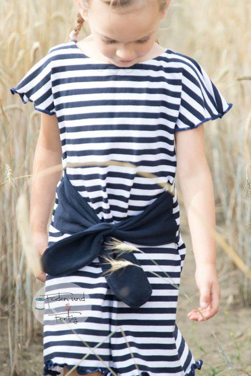 Schnittmuster-manja-Kinderkleid-Streifen-Jersey-Maritim