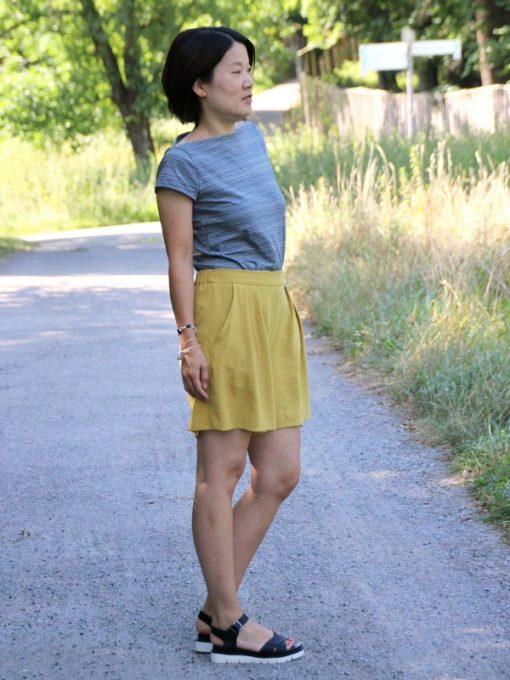 schnittmuster Hosenrock Cosima Shirt Sue lernen Zierstoff9