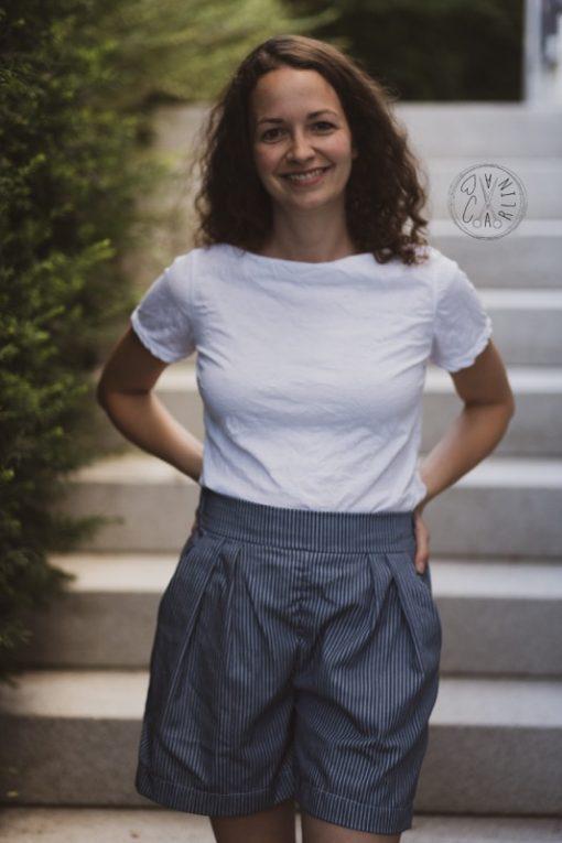 schnittmuster Hosenrock Cosima Shirt Sue lernen Zierstoff5