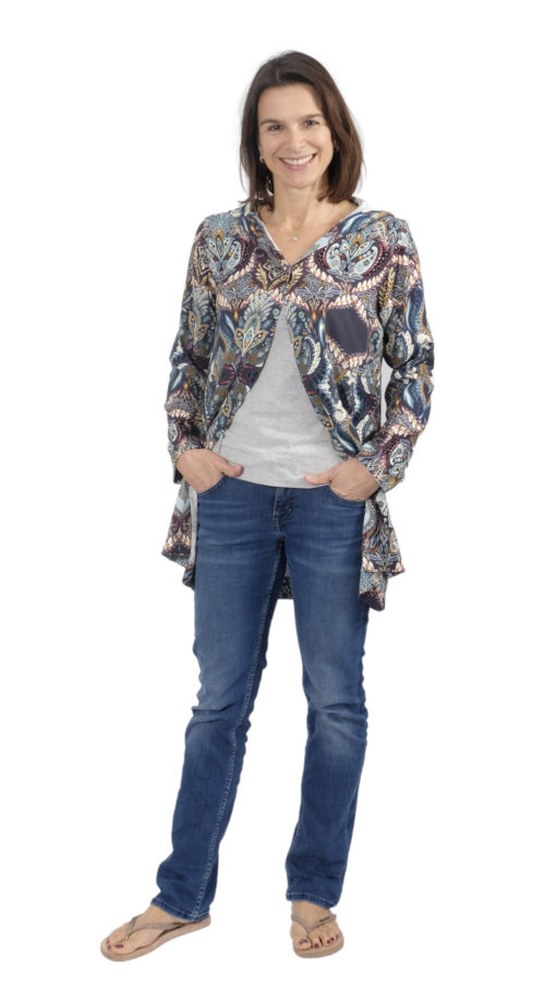 Schnittmuster Bluse Pinar Hoodiebluse