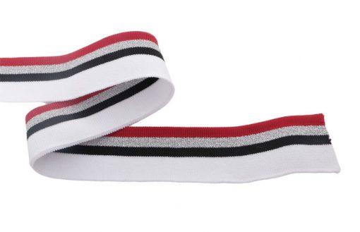Strickbündchen-weiß-rot-schmal