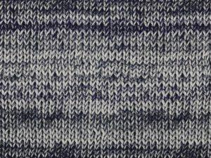 Viskosejerey, Strickmuster Blau / Grau – Digitaldruck