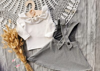 Schnittmuster Kinderkleid Mabel und Shirt Lenya1