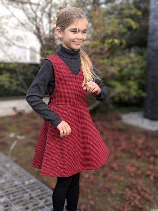 Kleid Schnittmuster Kinderkleid Mabel Trägerkleid einfach01