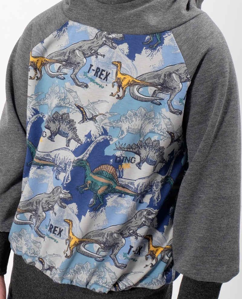 jersey trex dinosaurier auf blau  grau » zierstoff