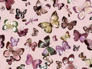08441.001 Jersey Stoff Schmetterlinge