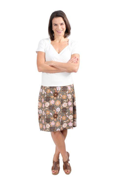 Schnittmuster Rock Clarissa Blumenrock Faltenrock Shirt Amira