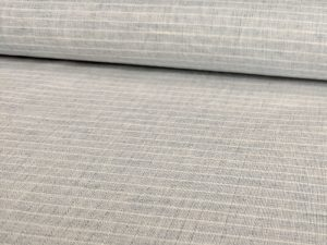 Baumwoll Stoff, unifarben Hellblau mit Streifen - leicht und luftig - Fibre Mood